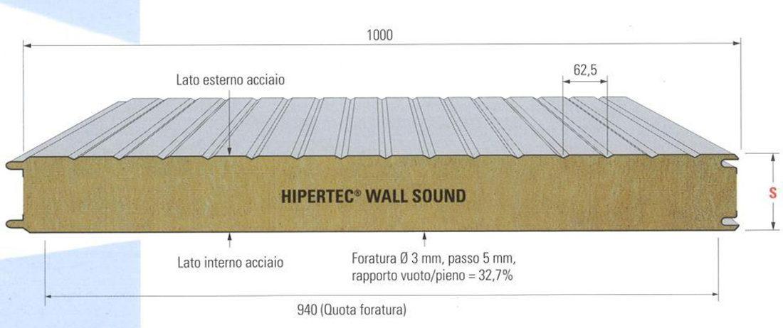 Pannello per parete HIPERTEC WALL SOUND produzione udine